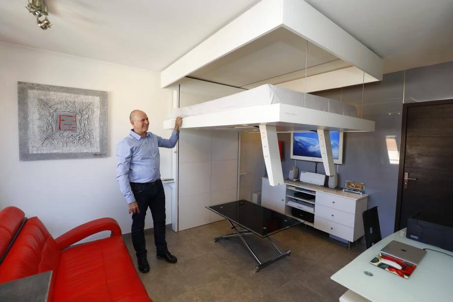 Le système du lit Bed&Space est très simple et permet de profiter d'un maximum d'espace.