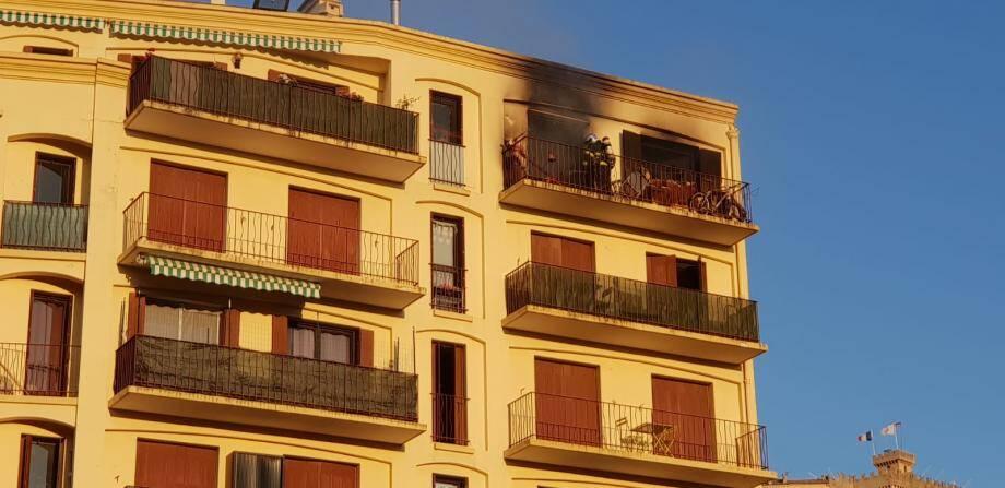 Le sinistre s'est déclaré au cinquième étage.