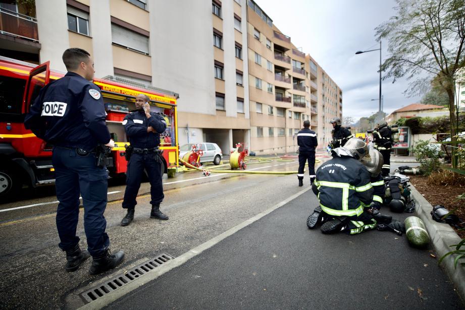 Un gros dispositif de pompiers a su réagir très rapidement.