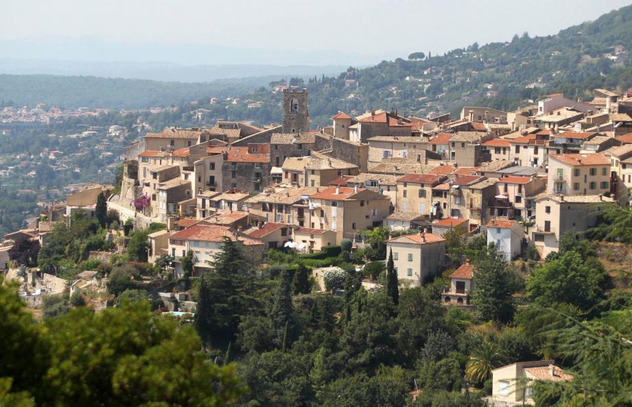 Le village de Saint-Jeannet.