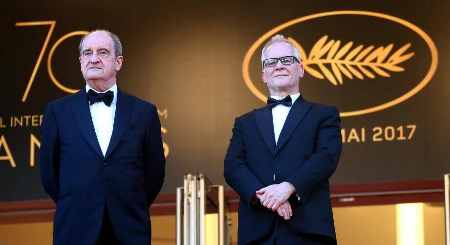 Pierre Lescure, président du Festival de Cannes, et Thierry Frémaux, délégué général.
