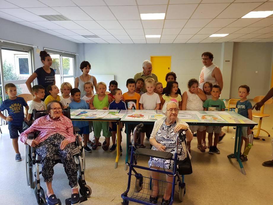 Le lien intergénérationnel est au cœur du projet d'établissement La Maison Bleue-Gattières.