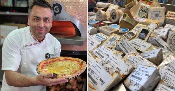 Un pizzaiolo a créé une pizza 154 fromages en Australie.