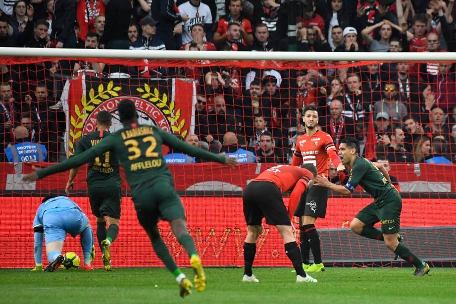 Falcao après son doublé contre Rennes.