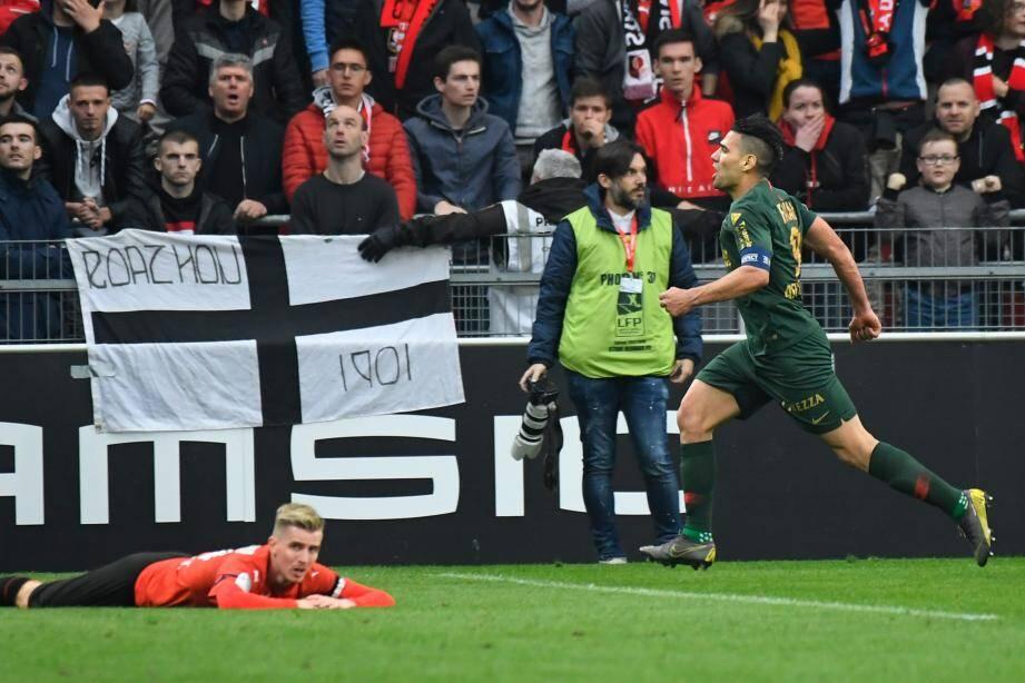 Falcao, lors de Rennes-Monaco.