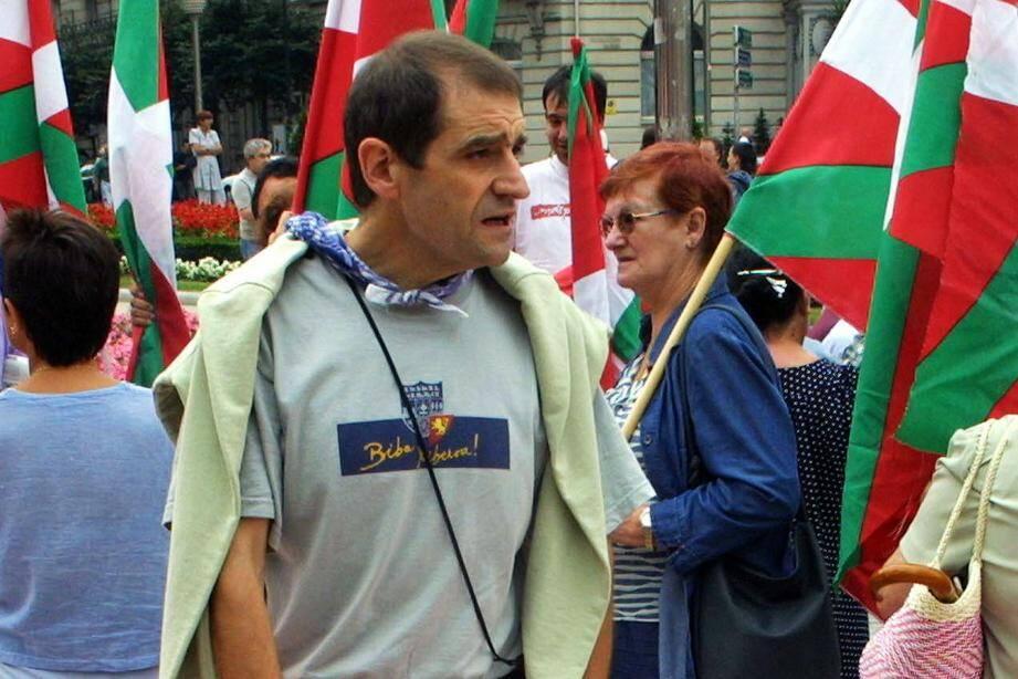 Un cliché de Jose Antonio Urrutikoetxea, alias Josu Ternera pris en août 2002 à Bayonne.