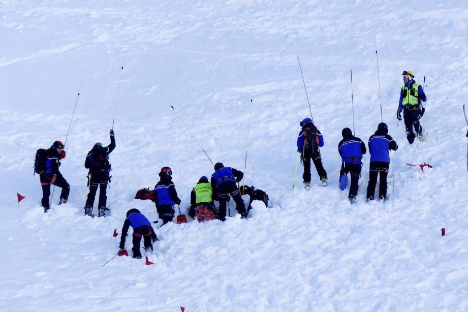 L'avalanche a eu lieu au-delà de la Madone-de-Fenestre.