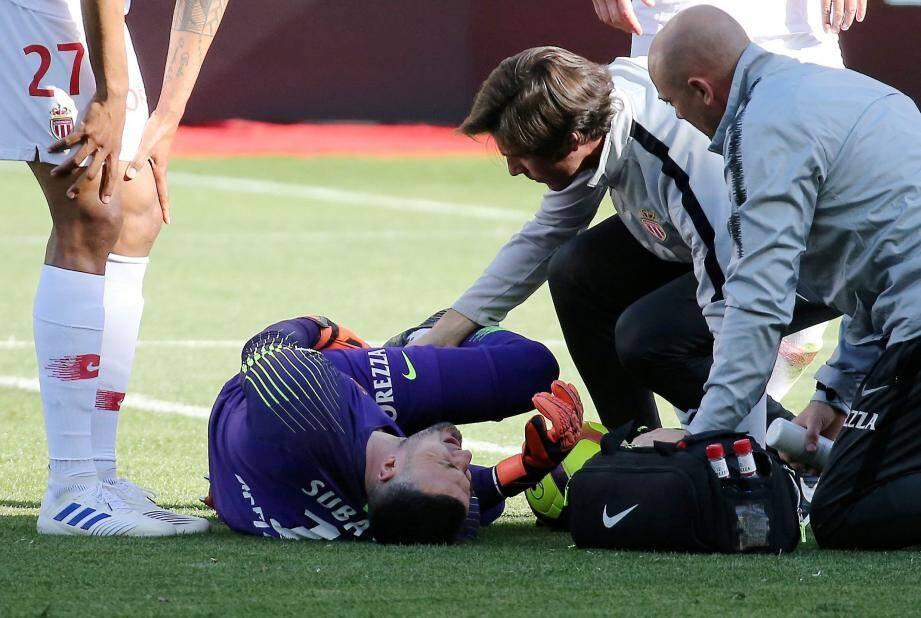 Danijel Subašić s'est blessé avant la mi-temps