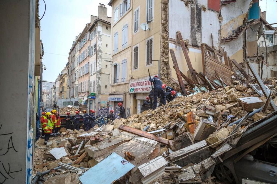Plusieurs bâtiments se sont effondrés en novembre 2018 à Marseille.