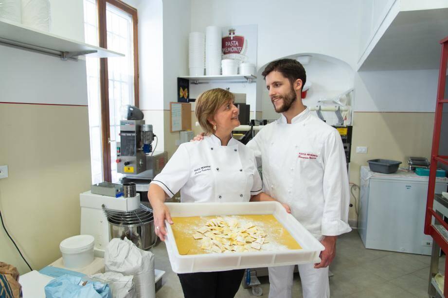 Luisa Inversi et son fils Riccardo.