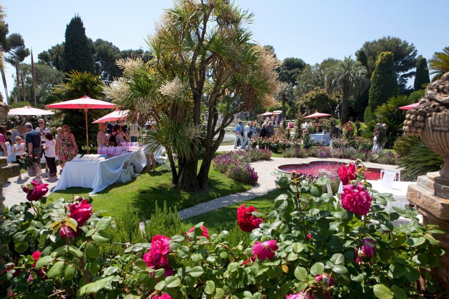 Lors de l'édition 2012 de la fête des roses à la villa Ephrussi-de-Rothschild(DR)