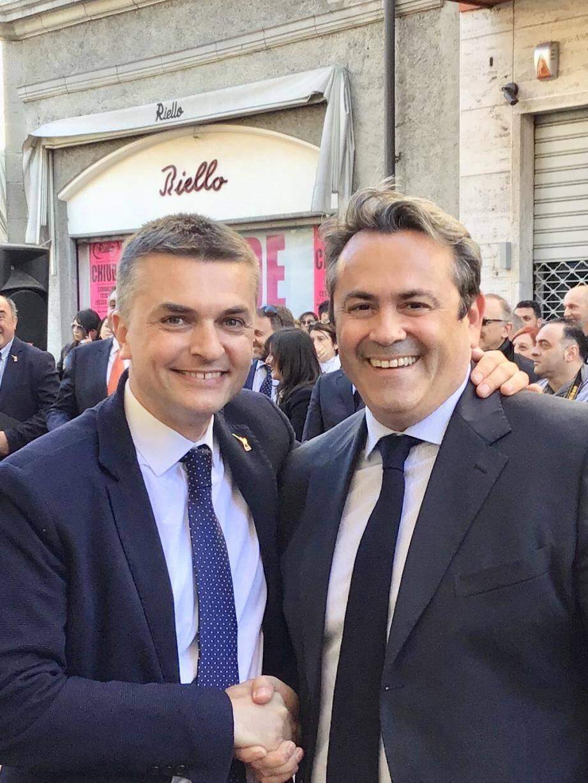 Eduardo Rixi et Olivier Bettati à Vintimille.(DR)