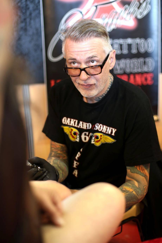 Pour Franck, star du tatouage en France, «c'est un boulot passion».
