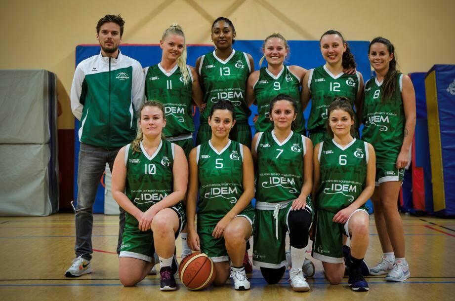 L'équipe senior féminine de l'US Grassoise.DR