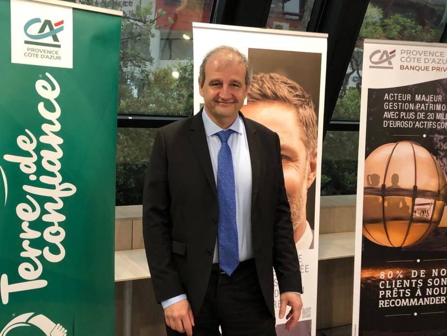 José Santucci, directeur général du Crédit Agricole PCA.