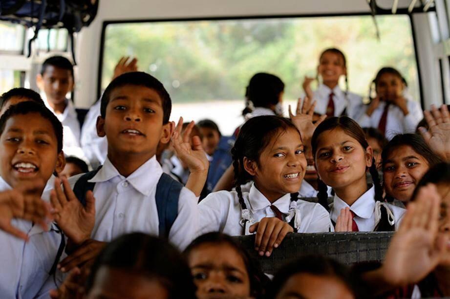 « Du bidonville à l'école » s'adresse aux enfants intouchables des bidonvilles de Dharamsala au nord de l'Inde.(DR)