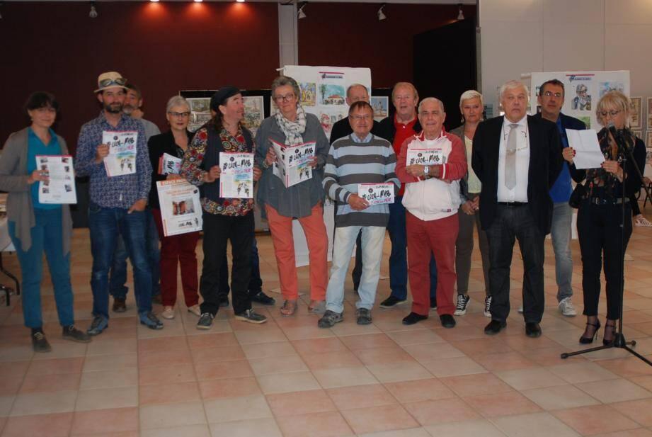Pascale Nouyrigat a salué la qualité du travail des cinq dessinateurs.