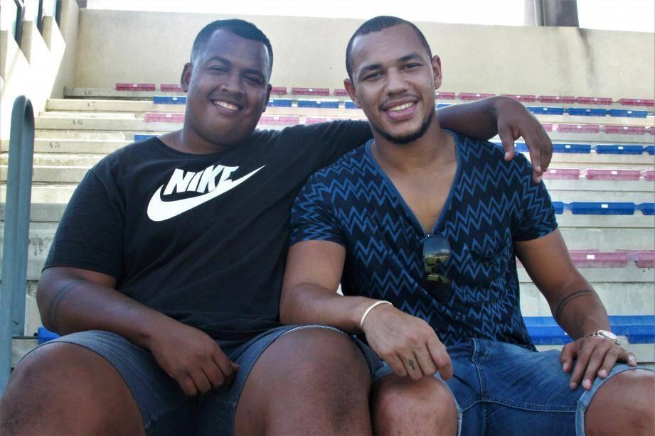 Gaël Fickou (à droite) et son frère Jérémie ont créé la surprise en annonçant devenir les prochains  présidents de La Seyne dès la la saison prochaine.