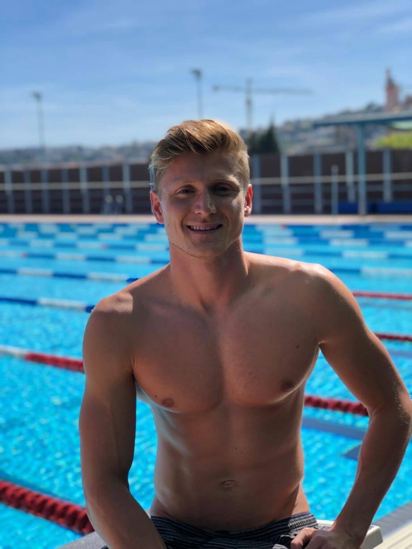 Tom Paco Pedroni, la semaine dernière à l'entraînement à la piscine Camille-Muffat à Nice.