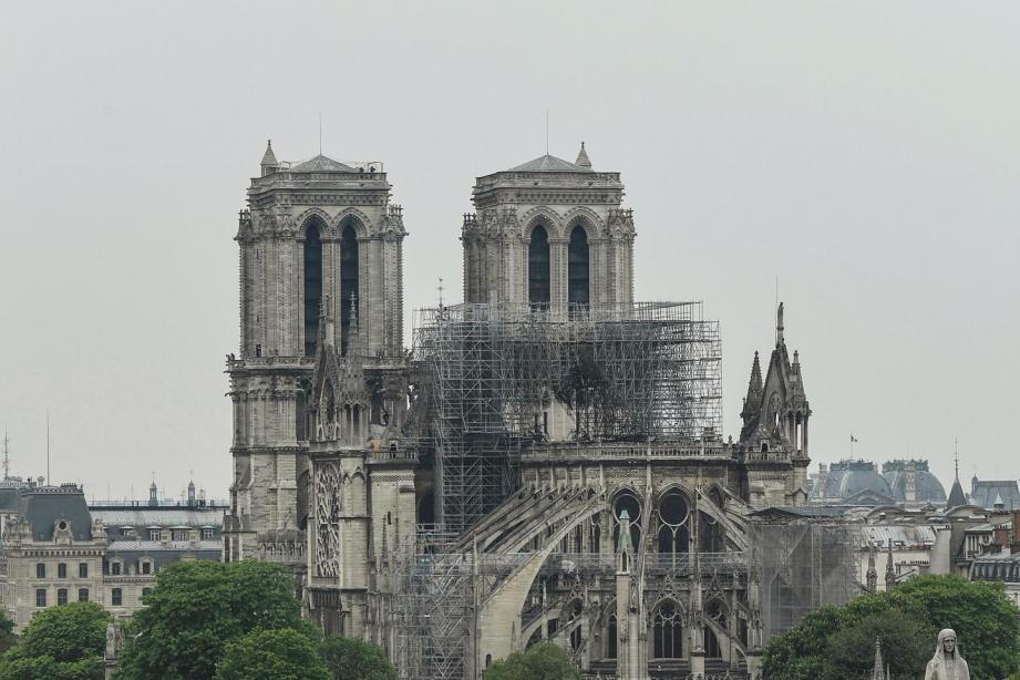 La cathédrale Notre-Dame en reconstruction.