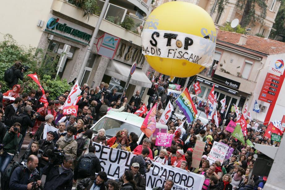 Déjà en 2011, 320 manifestants étaient venus aux frontières de Monaco pour dénoncer les paradis fiscaux.