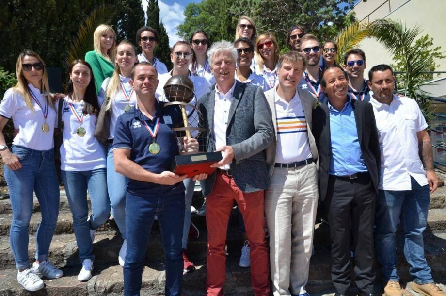 Les championnes de France 2019 ont découvert le Domaine d'Agecroft à Mandelieu où elles seront logées la saison prochaine.