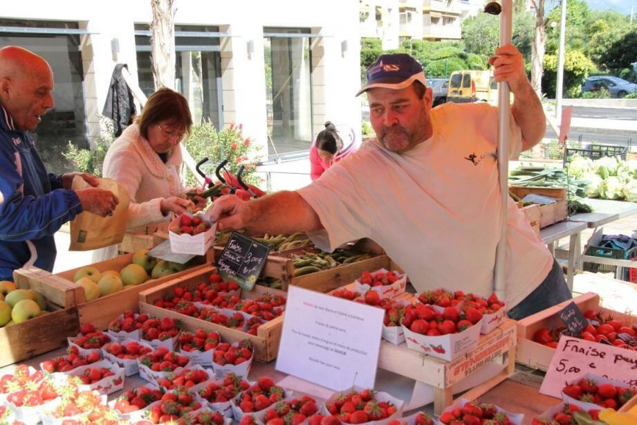 Les habitants du quartier des Pugets ont eu la chance de goûter aux fraises locales.