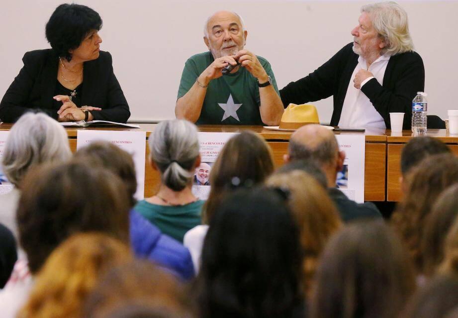 Gérard Jugnot face aux lycéens, hier.