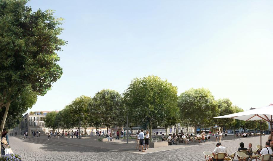 Le parking de La Poste verra sa sortie déplacée : le site restera piéton à 100%.