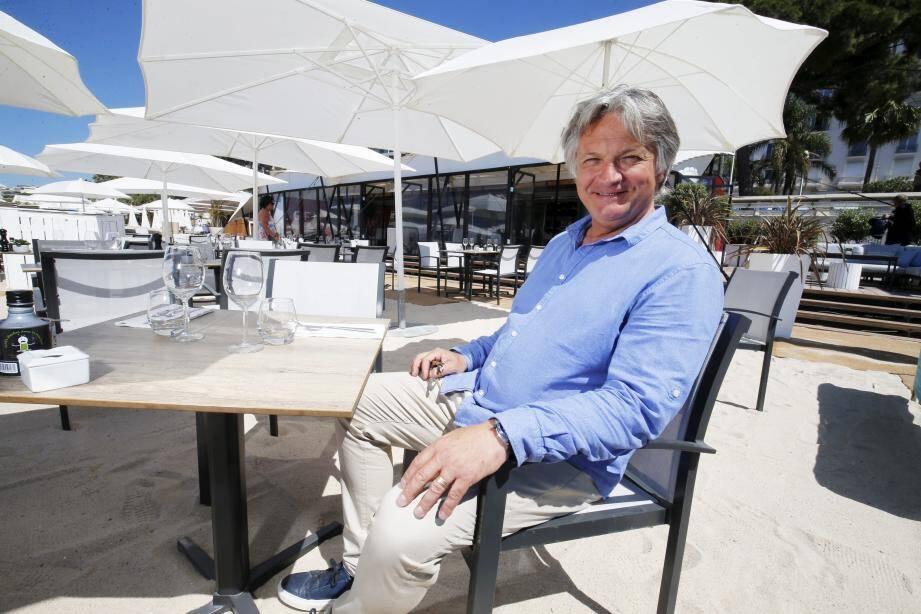 Olivier Rotondaro est à la tête de la plus ancienne plage privée de Cannes : le Rado.