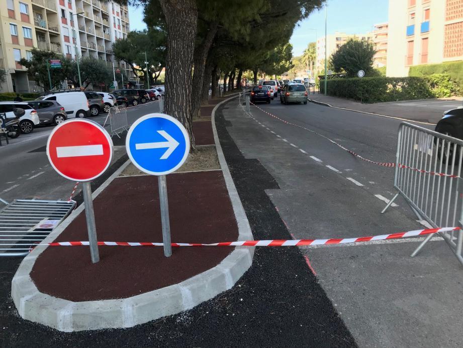 Des déformations dues aux arbres étaient présentes sur les trottoirs et les chaussées du boulevard Monod.