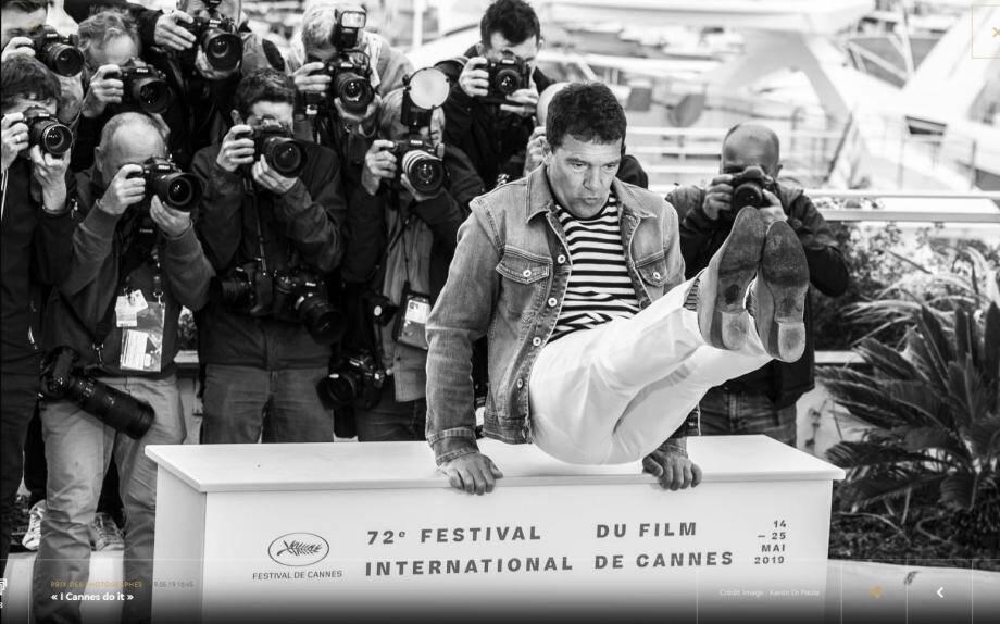 Ci dessus, Nathalie Mercier, responsable de la Terrasse des Journalistes et garante du bon suivi du Prix des Photographes depuis sa création voulue par Thierry Frémaux.  Et, à gauche, « I Cannes do it »,  le cliché immortalisé par Karen Di Paola, sélectionné dimanche par un jury  avec deux autres images marquantes, comme chaque jour du Festival. Samedi sera élue « LA » photo des photos !  (Photos Clément Tiberghien  et ©Karen Di Paola)