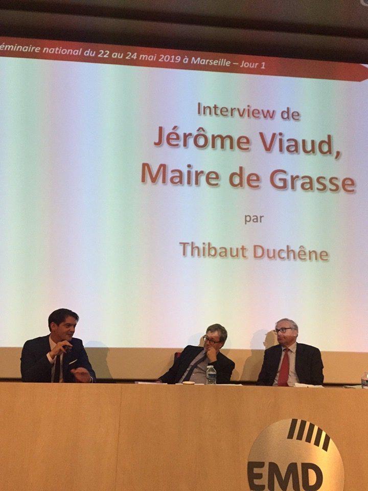Le maire de Grasse a été le seul élu à prendre la parole lors de ce séminaire national.(DR)