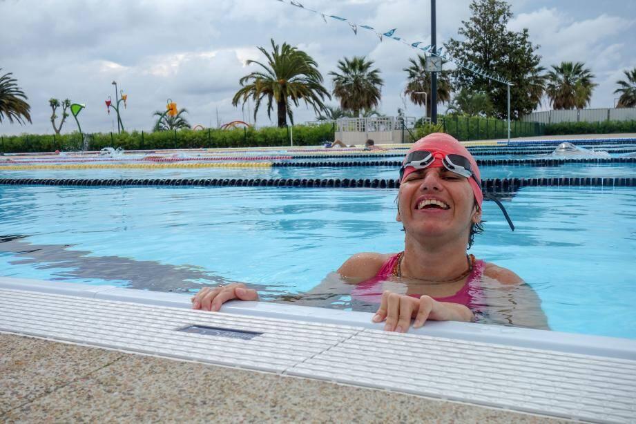 Mathilda s'entraîne à Antibes au sein du club Handisport Méditerranée.