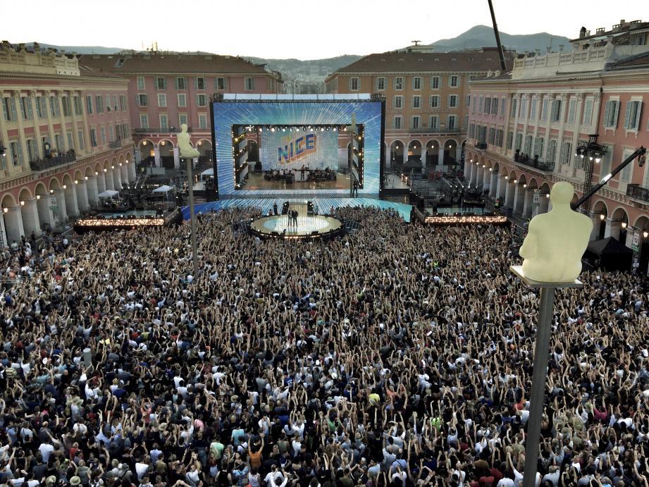 L'an dernier, la fête de la musique « Tous à Nice » avait réuni 30.000 personnes sur la place Masséna.