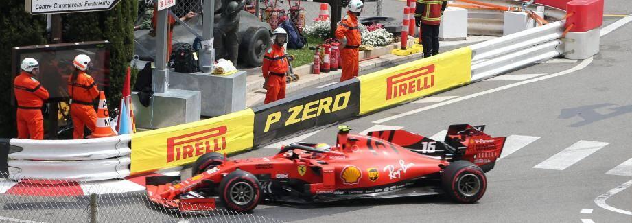 Charles Leclerc s'était élancé en 16e position.