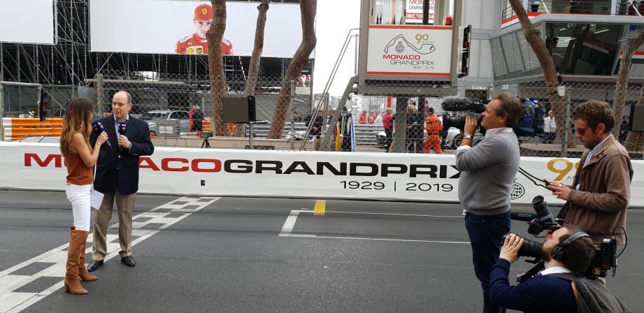 Jeudi matin, juste avant la séance 1 des essais libres en F1, Marion Jollès a interviewé le souverain sur la grille de départ.