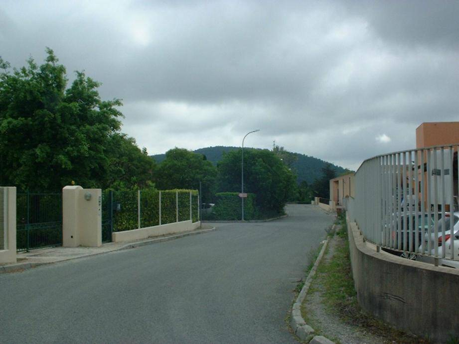 La zone de la Festre où s'effectueront des travaux du réseau d'eaux pluviales.