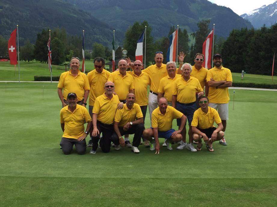 Les joueurs de l'AS Golf SBM lors du championnat de 2018 à Zell am See, en Autriche.