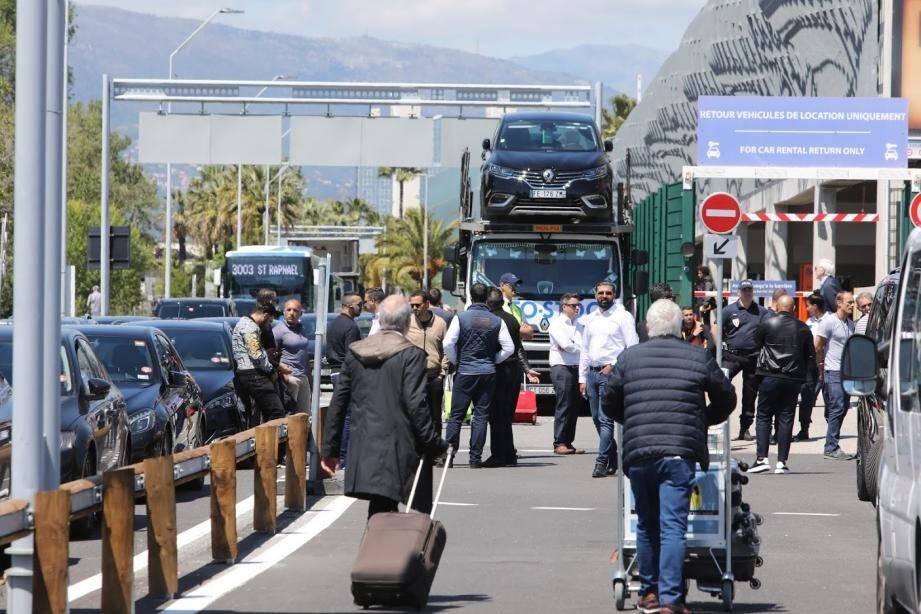 Les VTC ont déjà bloqué l'aéroport de Nice ce mercredi.