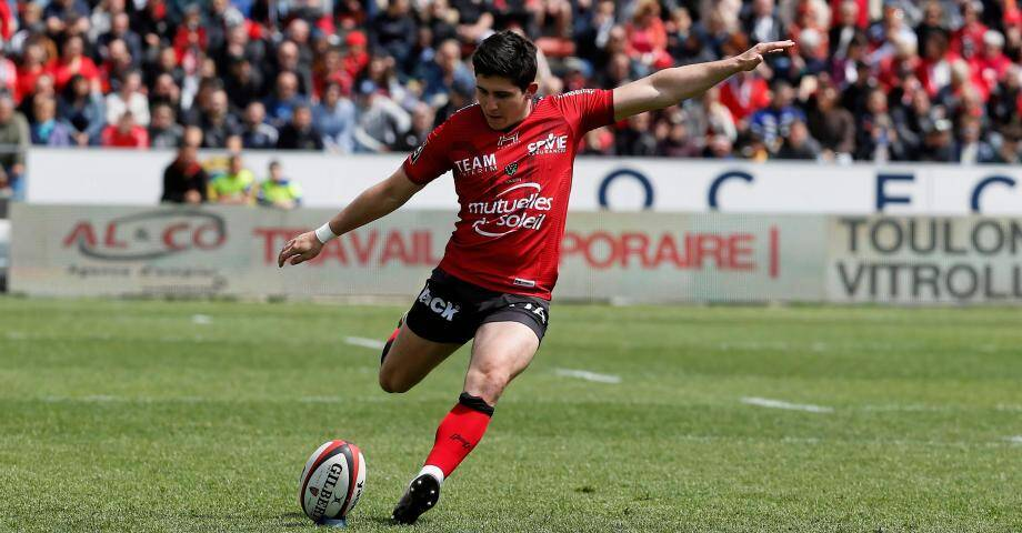 Anthony Belleau, demi d'ouverture au RC Toulon.