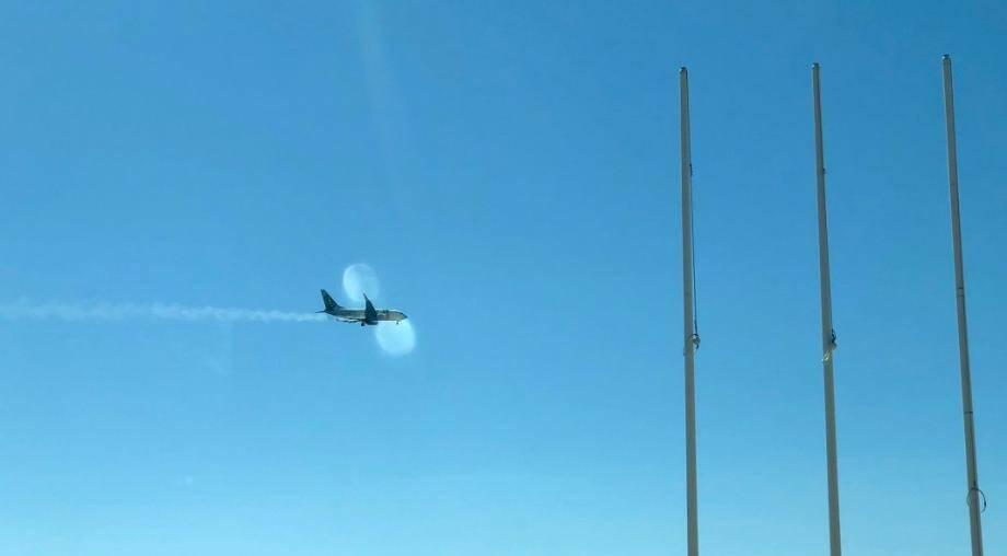 L'avion a été contraint d'atterrir d'urgence à Nice alors qu'il perdait du carburant.
