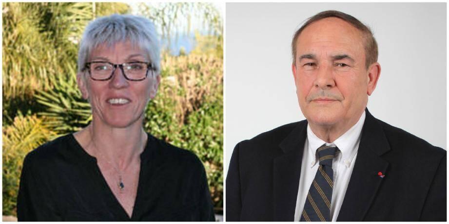 Caroline Roose (Alliance écologique indépendante) et Bernard Asso (Les Républicains).