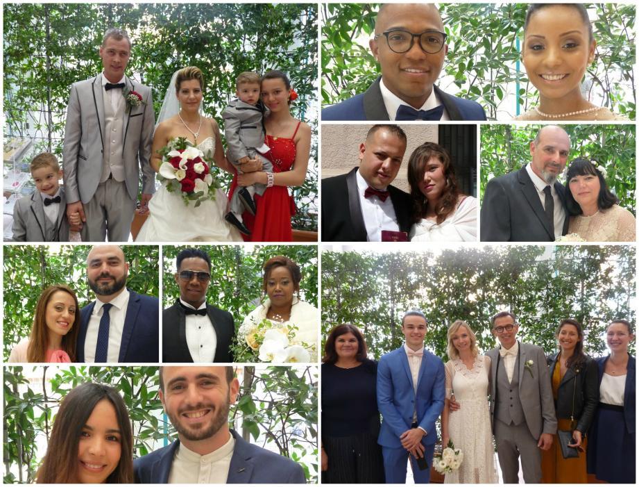 Huit couples se sont unis en mairie de Nice, ce week-end.