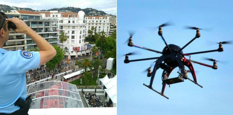 Sur le toit du Palais des Festivals, des gendarmes surveillent en temps réel les mouvements de drones. Avec800 militaires, la gendarmerie assure un maillage serré pendant la quinzaine, aux côtés des autres forces desécurité.