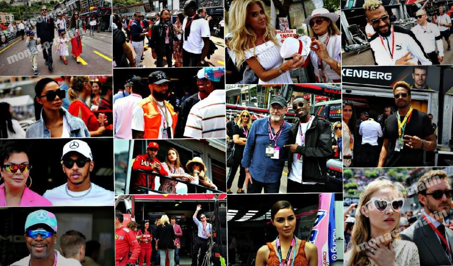 Acteurs, mannequins, animateurs,..., de nombreuses stars étaient dans les stands du Grand Prix  de Monte-Carlo