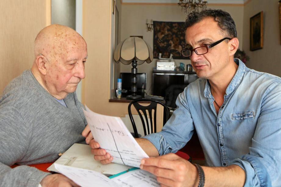 """""""A 90 ans, je suis devenu malvoyant. Alors Jérôme est devenu un peu mes yeux"""", confie Félix."""