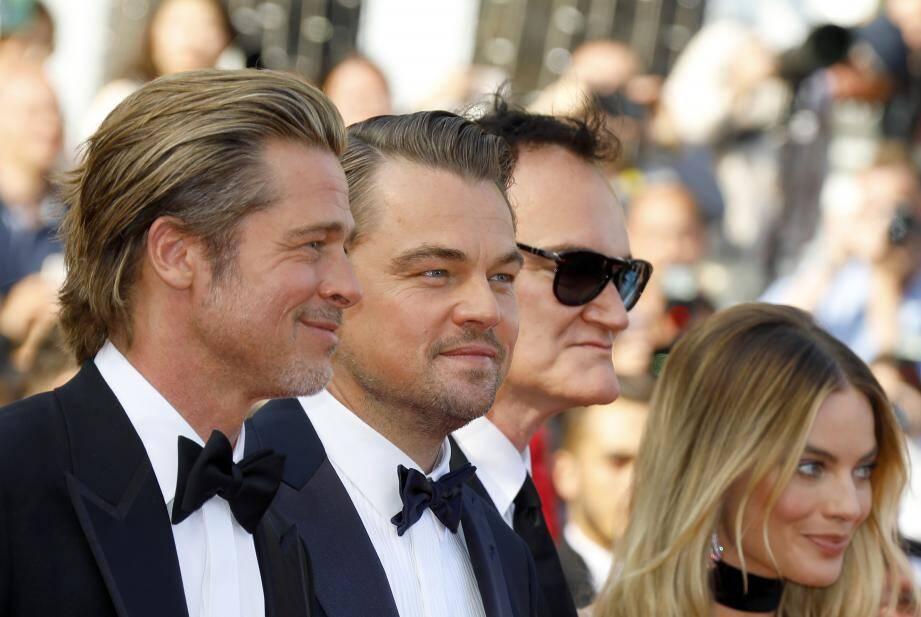 Brad Pitt, Leonardo DiCaprio, Quentin Tarantino et Margot Robbie.