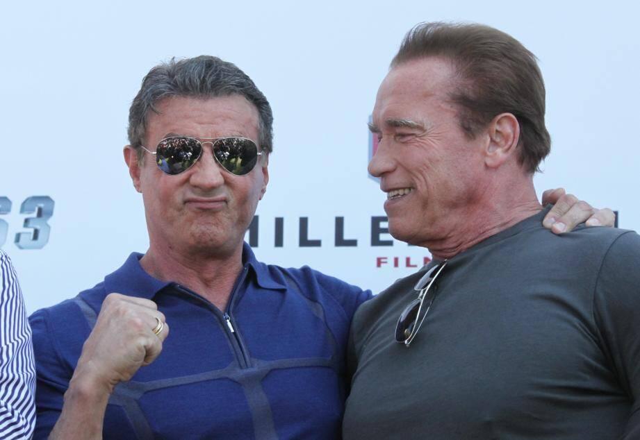 Sylvester Stallone avec Arnold Schwarzenegger.