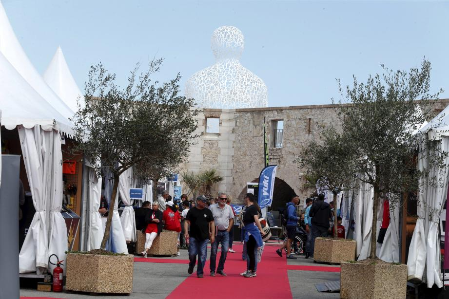 Tapis rouge et festival de... cannes le week-end dernier au port Vauban pour le Salon de la pêche et des loisirs aquatiques